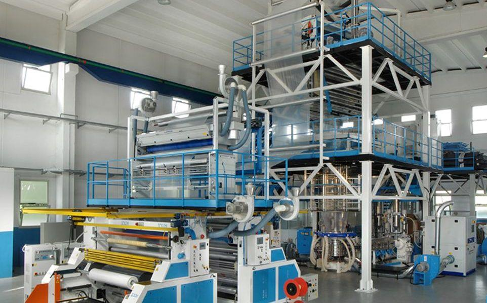 Corona treatment for blown film extrusion lines